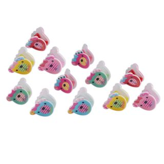 Saamarth Impex Multi Color Bear 12 Piece Jaw Claw Hair Clips SI-2447