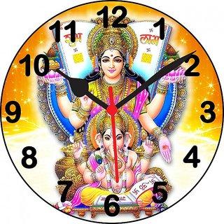 3D laxmi ganesh shubh laabh wall clock