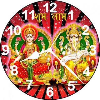 3D Laxmi Ganesh Analog Wall Clock