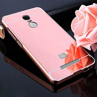 best sneakers 9264f d3f43 Mirror Back Cover Rose Gold Case Metal Frame For Redmi Note 3