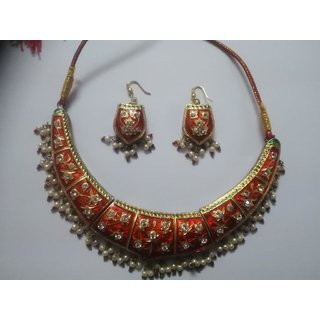 Jaipur Lakh Necklace with earrings for special sale