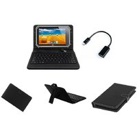 Krishty Enterprises 7inch Keyboard/Case For Micromax Canvas Tab P290 Tablet - BLACK With OTG Cable