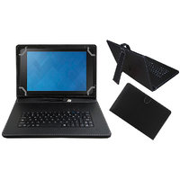 Krishty Enterprises 7inch Keyboard/Case For Micromax Canvas Tab P650E Tablet - BLACK With OTG Cable