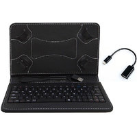 Krishty Enterprises 7inch Keyboard/Case For IKall K1 Tablet - BLACK With OTG Cable