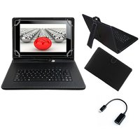 Krishty Enterprises 7inch Keyboard/Case For Micromax Canvas P470 Tablet - BLACK With OTG Cable