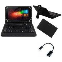 Krishty Enterprises 7inch Keyboard/Case For IBall Slide Q40i Tablet - BLACK With OTG Cable