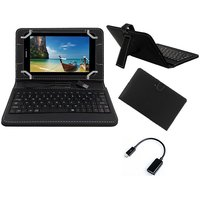 Krishty Enterprises 7inch Keyboard/Case For Lenovo Tab3 7 Essential Tablet - BLACK With OTG Cable