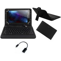 Krishty Enterprises 7inch Keyboard/Case For HP 7 Voice Tab - BLACK With OTG CABLE