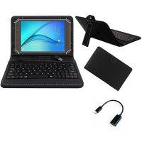Krishty Enterprises 7 Keyboard/Case For Datawind Ubislate 7SC Star Tablet - BLACK With OTG Cable