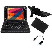 Krishty Enterprises 7inch Keyboard/Case For IBall Slide I701 - BLACK With OTG Cable