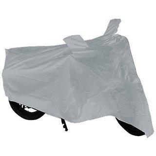 Silver Bike Body Cover for Hero Splendor PRO, Plus, Pro Classic, iSmart, Super Splendor
