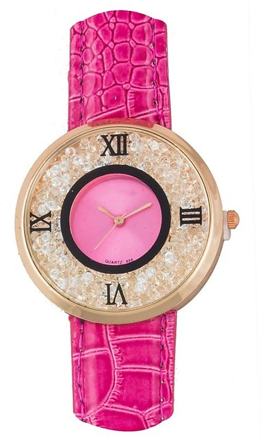74843462886 FAP Analog Pink Colour Crystal Inside Womens watches ladies watches girls  watches designer watches ...