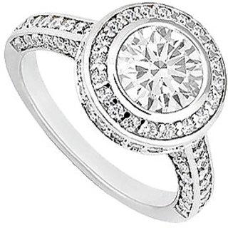 Lovebrightjewelry Pretty Diamond 14K White Gold Engagement Ring-1.50 Ct