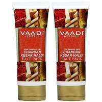Value Pack Of 2 Chandan Kesar Haldi Fairness Face Pack (120 Gms X 2)