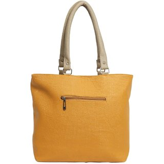 Women Shoulder Handbag Yellow Colour