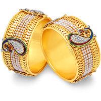 Sukkhi Stylish Peacock Gold Plated Bangle For Women