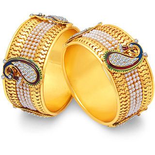 Sukkhi Stylish Peacock Gold Plated Bangle For Women