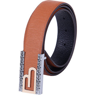 Black Buck Men, Boys Formal Brown Genuine Leather Belt  (Light Brown)