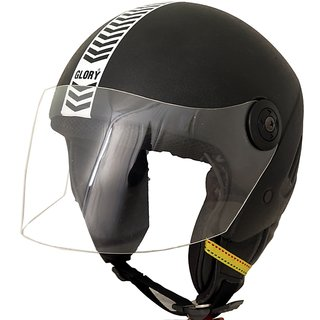 MP Glory Open Face Motorcycle Scooter Helmet for Gents/Boys with ISI Mark