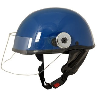 MP Open Face Motorcycle Scooter Helmet for Gents/Boys/Girls Blue
