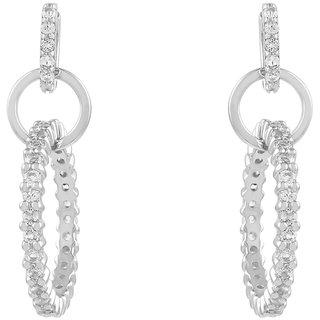 Changeable White Topaz 925 Sterling Silver Earrings for Girls