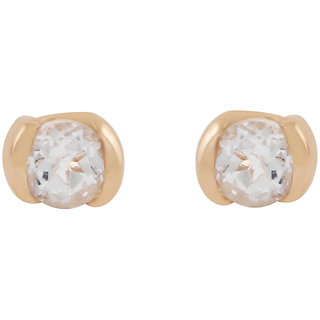 925 Sterling Silver White Topaz Tiny Studs for girls by Allure