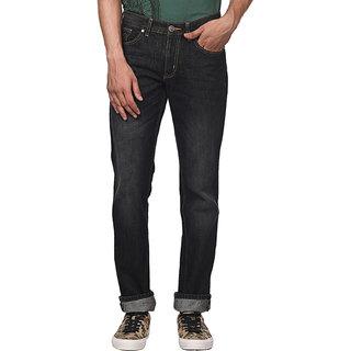 Newport Slim Fit Mens Black Jeans