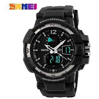 Skmei Black Digital and Analog wrist watch for Men and Boys
