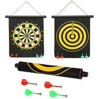 12'' Inch Magnetic Dart Board and Bullseye Game with 4 Darts