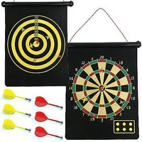 15'' Inch Magnetic Magnet Reversible Dart Board Two-Sides With 6 Dart