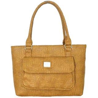 Splice Womens Snake Textured Design Tote Handbag