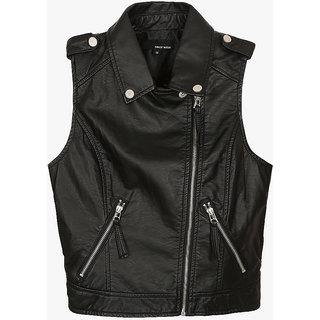 Leather jacket black tally