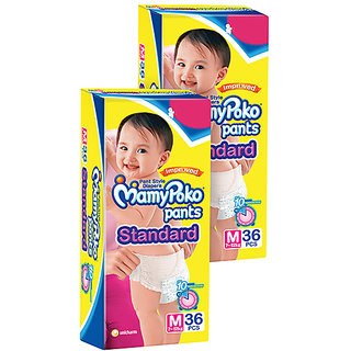Childrens Pants Standard Pant Style Diapers Medium - 36 Pieces-Pack Of 2