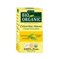 Indus Valley BIO Organic Colourless HENNA (Cassia Auriculata) With Color Recipe Book