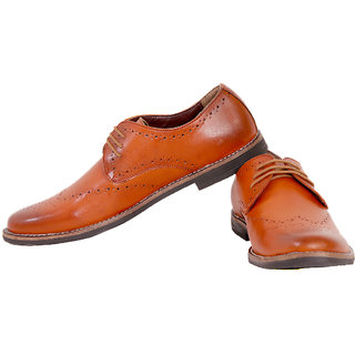 Honos Men's Tan Elite Formal Shoes