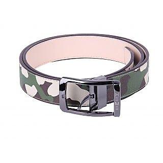 Black Buck Boys Casual Multicolor Genuine Leather Belt  (Multicolor)