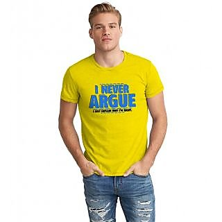 The Fappy Store Never Argue Half Sleeve T-Shirt