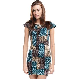 Allison Taylor Acrylic Short Dress