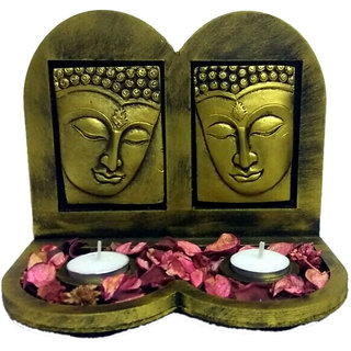 3D Double Buddha,T-lights and Perfumed Potpourri Set