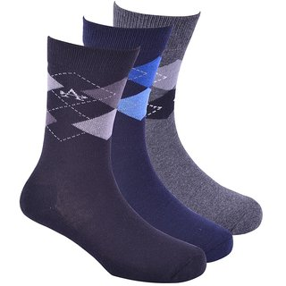 Arrow Mens Argyle Formal Calf Length Cotton Socks (Pack of 3) AOSN0280