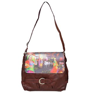 Rehan's Brown Non Leather Sling Bag RL2104