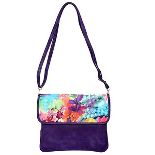 Rehan's Purple Non Leather Sling Bag RL2102