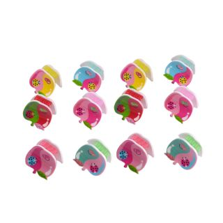Saamarth Impex Multi Color Apple 12 Piece Jaw Claw Hair Clips SI-2534