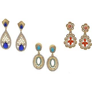 Vidhi Jewels Golden Plated Zinc Casting Combo Set of Earrings for Women VCOMBO105G