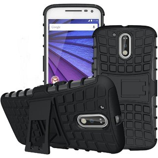 CellwallPRO moto g4 plus dual layer kick stand defender cover