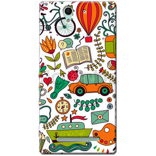 Cell First Designer Back Cover For Sony Xperia C3-Multi Color sncf-3d-XperiaC3-440
