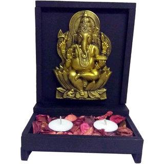 Ganesha T-Light  Perfumed Potpourri Set