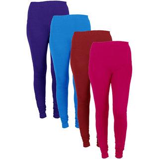 IndiWeaves Women Combo Offer (Pack of 4 Legging)