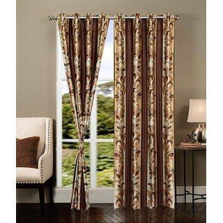 PariHomefurnishing Stylish Window Curtain Set of 2 - 300153