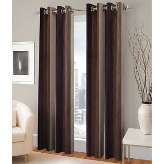 PariHomefurnishing Stylish Window Curtain Set of 2 - 300268